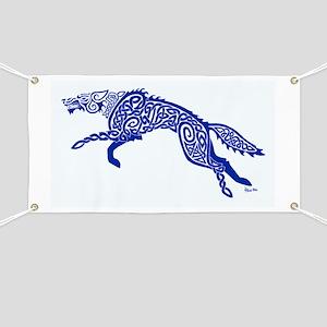 Blue Wolf Banner