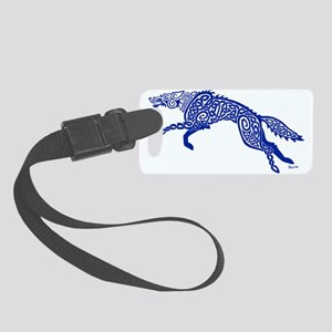 Blue Wolf Small Luggage Tag