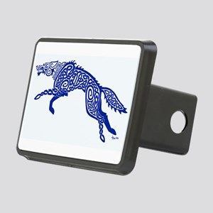 Blue Wolf Rectangular Hitch Cover