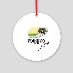PURRITO, BURRITO, CAT Round Ornament
