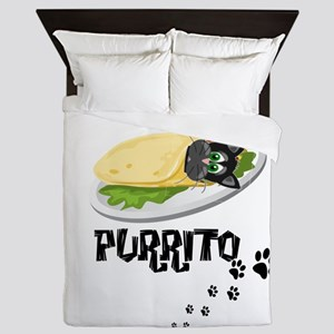PURRITO, BURRITO, CAT Queen Duvet