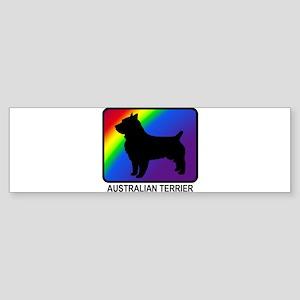 Australian Terrier (rainbow) Bumper Sticker