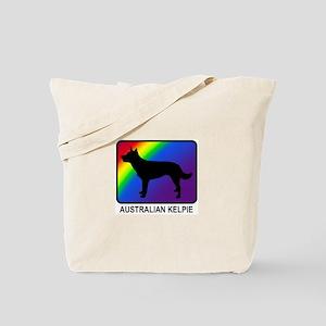 Australian Kelpie (rainbow) Tote Bag