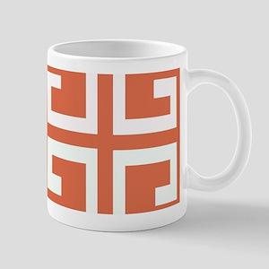 Orange and White Spanish Tile Mugs