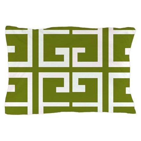 Pillowcase In Spanish Unique Avocado Green Spanish Tile Pillow Case By Crazycheckerboards
