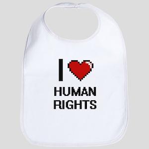 I love Human Rights Bib