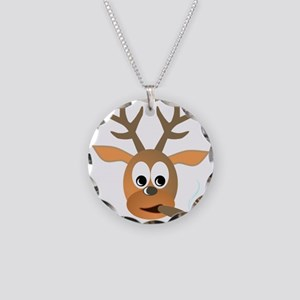 Deer with Cigar Necklace Circle Charm