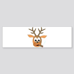 Deer with Cigar Bumper Sticker