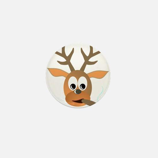Deer with Cigar Mini Button