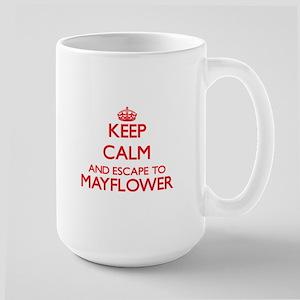 Keep calm and escape to Mayflower Massachuset Mugs