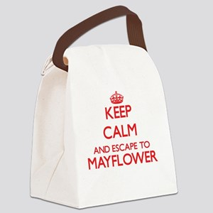 Keep calm and escape to Mayflower Canvas Lunch Bag