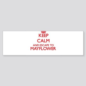 Keep calm and escape to Mayflower M Bumper Sticker