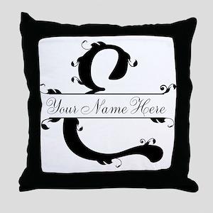 Monogram E Throw Pillow