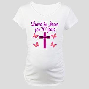 CHRISTIAN 70TH Maternity T-Shirt