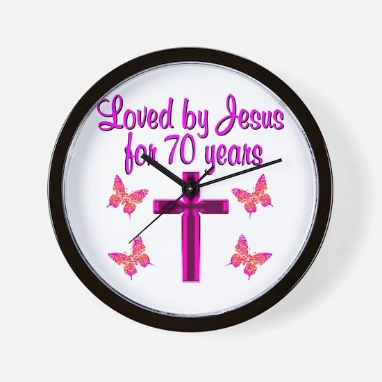 CHRISTIAN 70TH Wall Clock