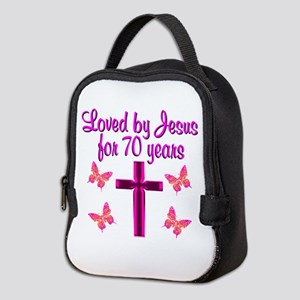 CHRISTIAN 70TH Neoprene Lunch Bag