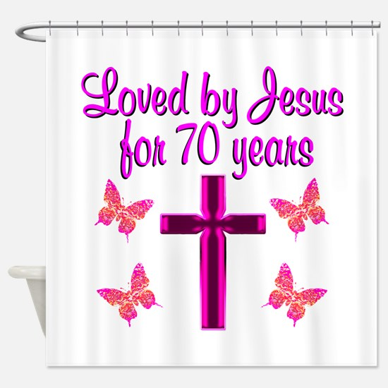CHRISTIAN 70TH Shower Curtain
