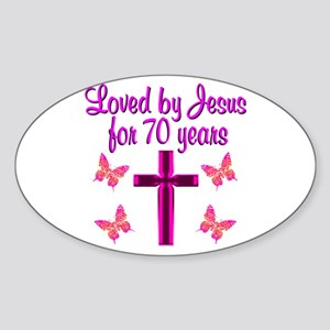 CHRISTIAN 70TH Sticker (Oval)