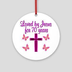 CHRISTIAN 70TH Ornament (Round)