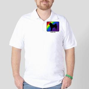 Shiba Inu (rainbow) Golf Shirt