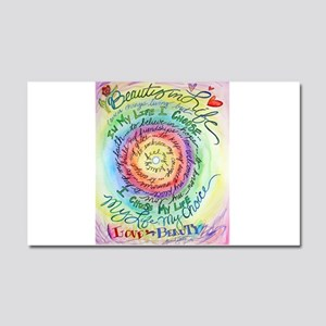 Beauty in Life Cancer Support Poem Car Magnet 20 x