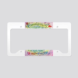 Beauty in Life Cancer Support Poem License Plate H