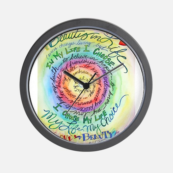 Beauty in Life Cancer Support Poem Wall Clock