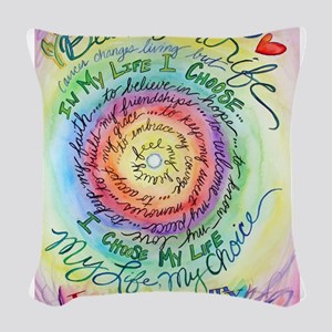 Beauty in Life Cancer Support Poem Woven Throw Pil