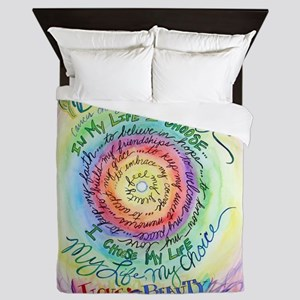 Beauty in Life Cancer Support Poem Queen Duvet