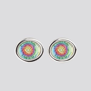 Beauty in Life Cancer Support Poem Oval Cufflinks