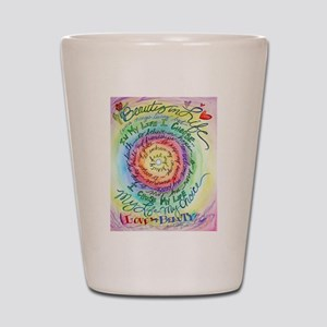 Beauty in Life Cancer Support Poem Shot Glass
