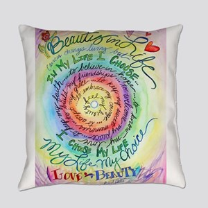 Beauty in Life Cancer Support Poem Everyday Pillow