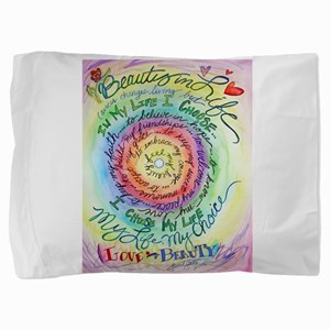 Beauty in Life Cancer Support Poem Pillow Sham