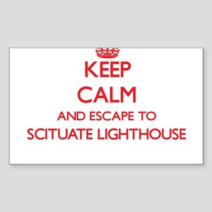 Keep calm and escape to Scituate Lighthous Sticker