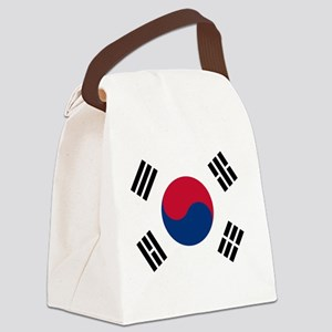 south korea flag Canvas Lunch Bag