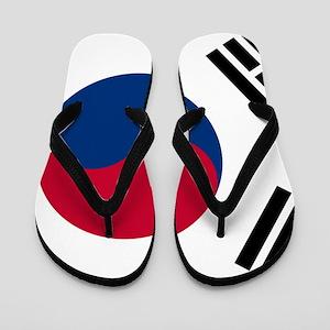 0d5fbccd7 Mens South Korean Flag And American Flag Flip Flops - CafePress
