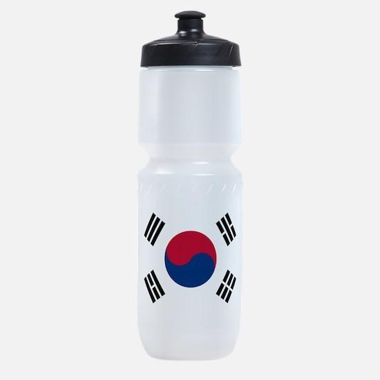 south korea flag Sports Bottle