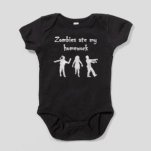 Zombies Ate My Homework Baby Bodysuit
