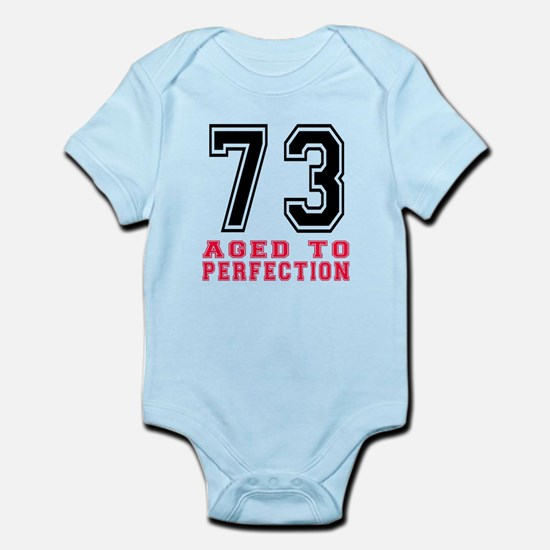 73 Aged To Perfection Birthday Des Infant Bodysuit