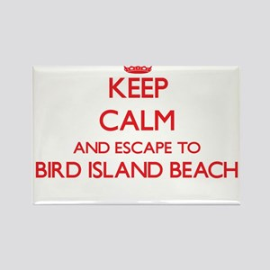 Keep calm and escape to Bird Island Beach Magnets