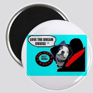 LOVE THE DREAM CRUISE (DOG STYLE) Magnet