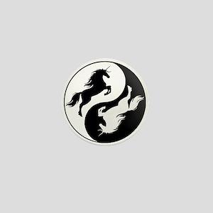 Yin Yang Unicorn Mini Button