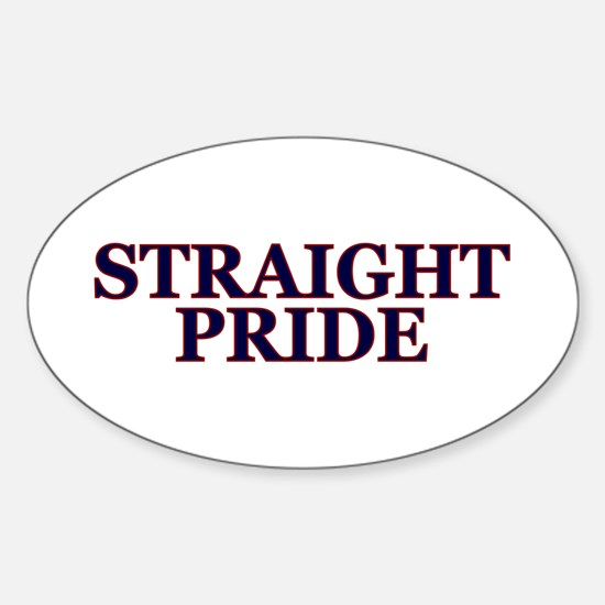 Proud Straight Pride Sticker (oval)