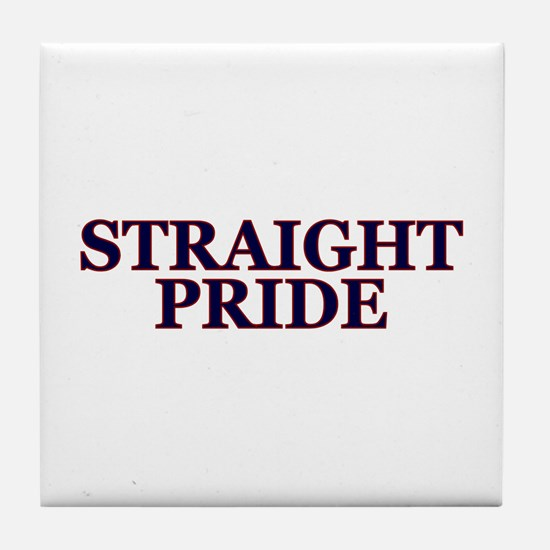 Proud Straight Pride Tile Coaster