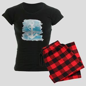 Watercolor Anchor Women's Dark Pajamas