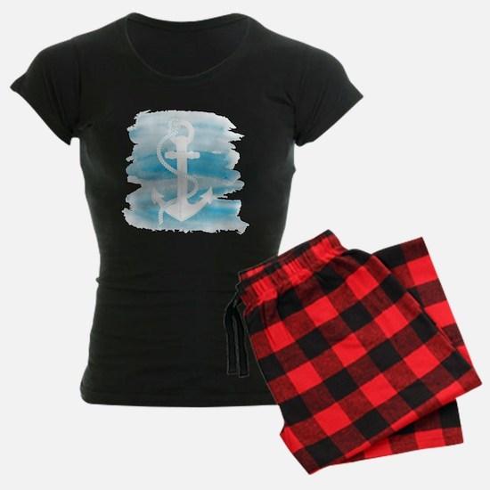 Watercolor Anchor pajamas