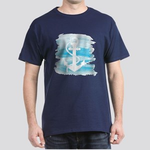 Watercolor Anchor Dark T-Shirt