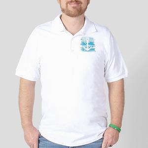 Watercolor Anchor Golf Shirt