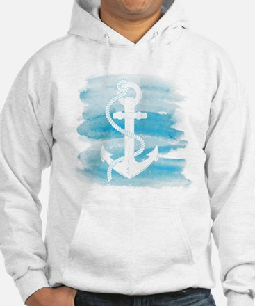 Watercolor Anchor Jumper Hoody