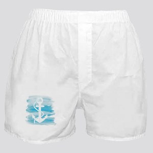 Watercolor Anchor Boxer Shorts